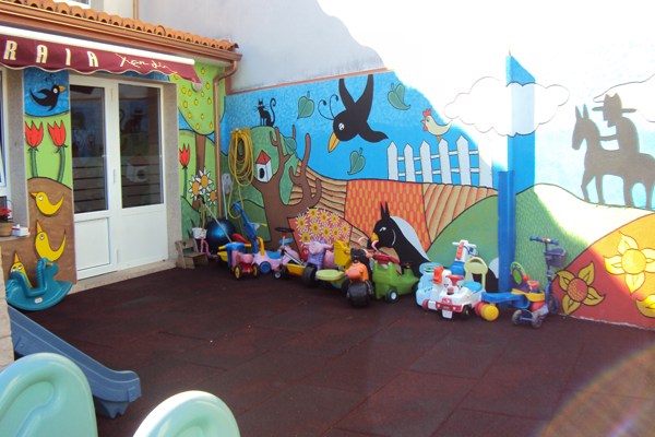 Escola Infantil Praia Xardín patio de juegos